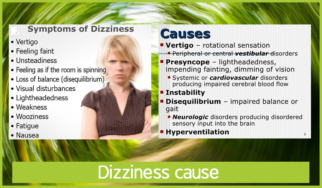 dizziness cause